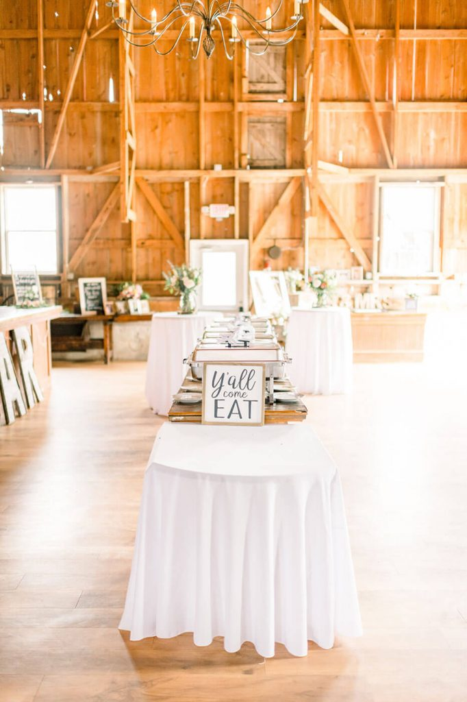 sugarland barn wedding reception