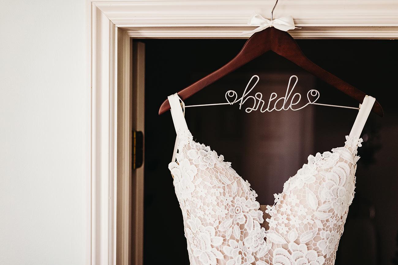 Dress on Bride Hanger
