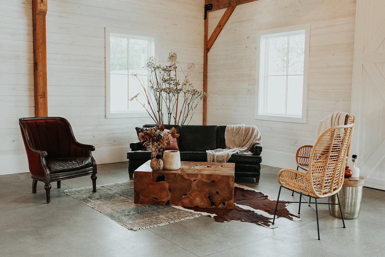 Farmhouse Wedding Seating Inspiration