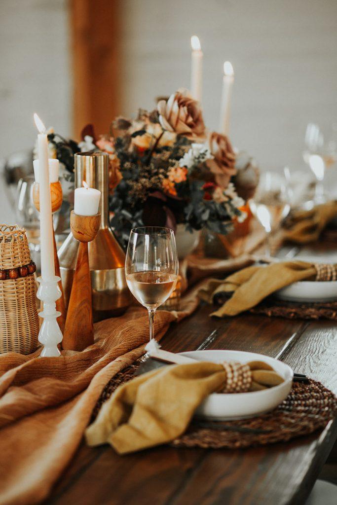 Modern Farmhouse Wedding Placesetting