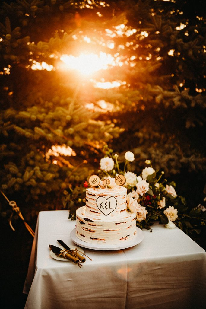 Nature-inspired wedding cake by Elite Sweets