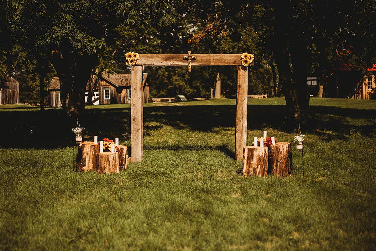 Rural, Rustic Wedding Altar